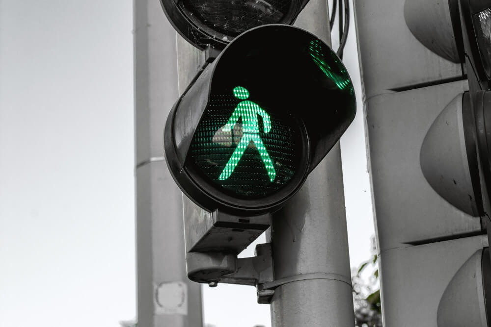 Traffic light with green pedestrian - ready for marketing automation