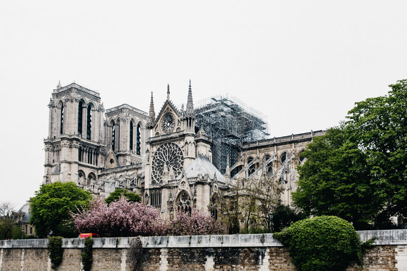 Notre dame after fire damage